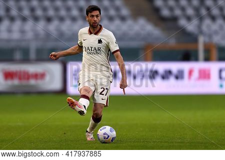 Torino, Italy. 18th April 2021. Javier Pastore Of As Roma  During The Serie A Match Between Torino F