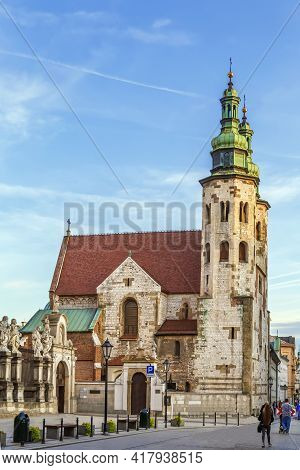Church Of St. Andrew In The Old Town District Of Krakow, Poland Is A Historical Romanesque Church Bu