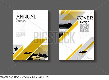 Cover Background Yellow Abstract Modern Design Modern Book Cover Brochure Cover Template,annual Repo