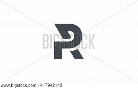 R Or Rp Or Pr Logo Isolated On White Background.