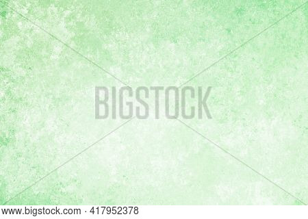 Light Green Turquoise White Antique Old Background With Blur, Gradient And Watercolor Texture. Space