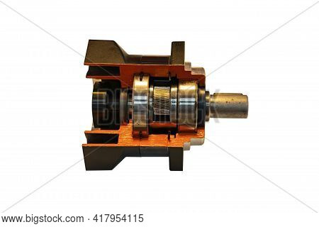 Cross Section Show Detail And System Cogs Bearing And Other Inside Precision Planetary Gear Box Set