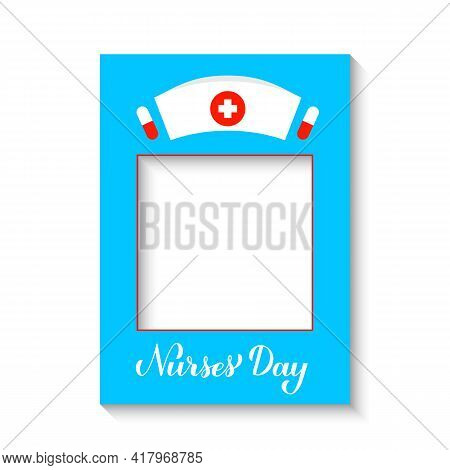 Nurses Day Photobooth Frame. Photo Booth Props. Medical Party Decorations