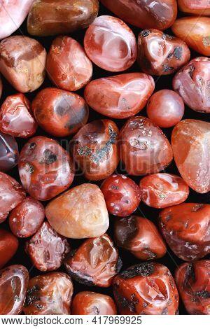 South Onyx Heap Jewel Stones Texture On Black Background