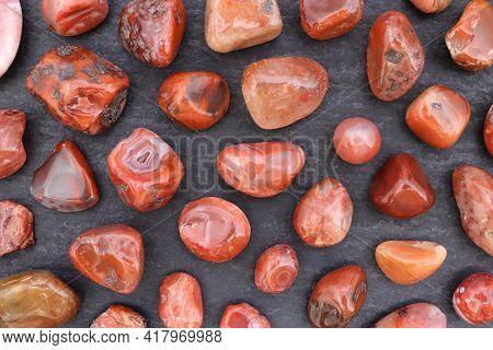 South Onyx Rare Jewel Stones Texture On Black Stone Background