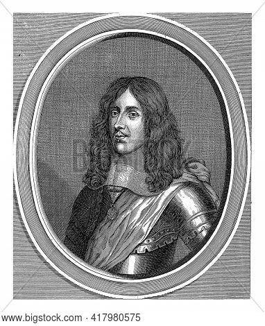 Portrait of Carlo Emanuele Filiberto de Simiana, Marquis of Pianezza. At the bottom in the margin are title and function in Italian.