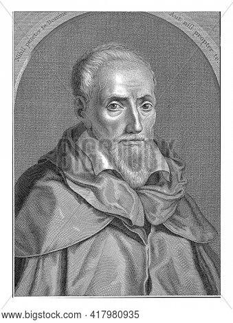 Portrait of the legal scholar Guilelmus Maranus, Jan Caspar Philips, 1740