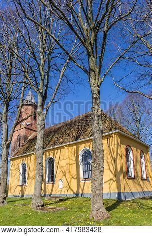 Historic Yellow Church Of Wehe-den Hoorn, Netherlands