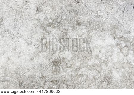 Stained Concrete Background. Water Stains Grunge Wall. Gray Cement Texture. Grunge Outdoor Ground Pa