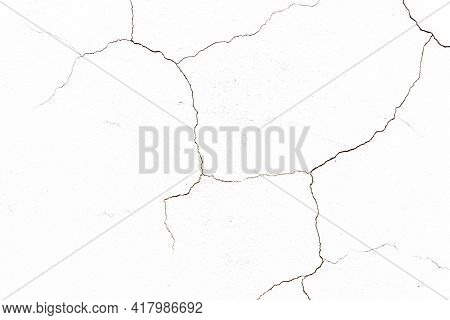 Black Crack Background. Scratched Lines Texture. White And Black Distressed Grunge Concrete Wall Pat