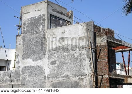 Stock Photo Of Newly Built Home In Residential Are In Kolhapur City Maharashtra India, Focus On Obje