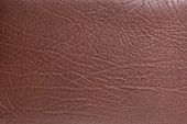 Natural qualitative brown leather texture. Close up. poster