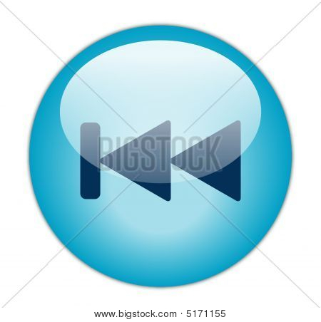 Glassy Blue Previous Icon