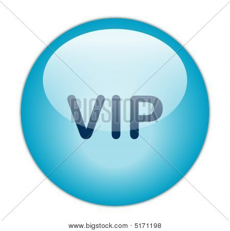 The Glassy Blue Vip Button