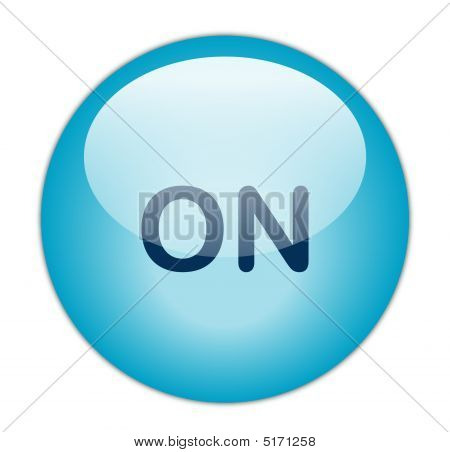 The Glassy Blue On Button