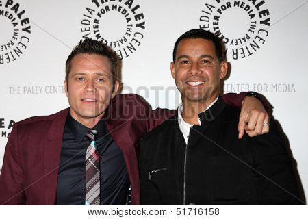 LOS ANGELES - SEP 30:  Seamus Dever, Jon Huertas at the An Evening with Castle at Paley Center for Media on September 30, 2013 in Beverly Hills, CA