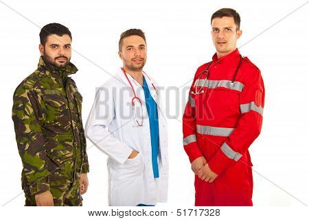 Paramedic,doctor And Military
