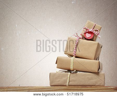 Stack Of Handcrafted Gift Boxes