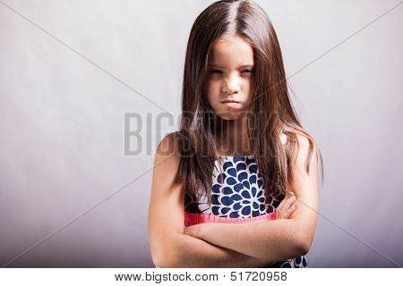 Very angry little girl