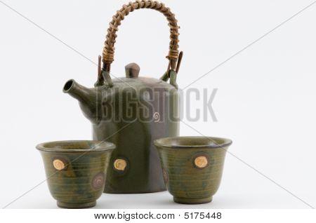 Tea Pot And Cups