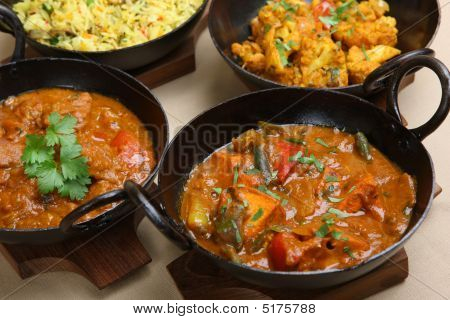 Indian Curry Selection