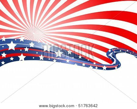 Abstract Patriotic Background