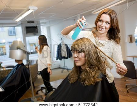 Group of people in a Beauty salon