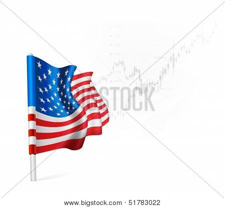 U.S. Flag on background stock illustrations
