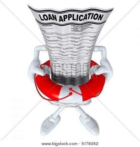 Loan Application In Life Preserver