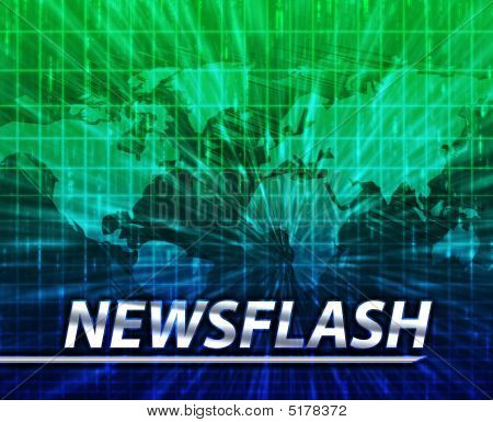 Latest breaking news newsflash splash screen announcement illustration poster