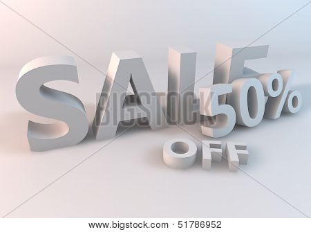 White Sale 50% off