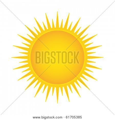 Sun illustration isolated. (EPS vector version also available in portfolio)