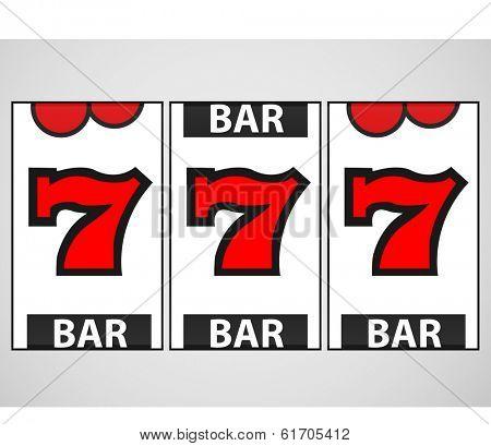 Slot Machine Illustration. (EPS vector version also available in portfolio)