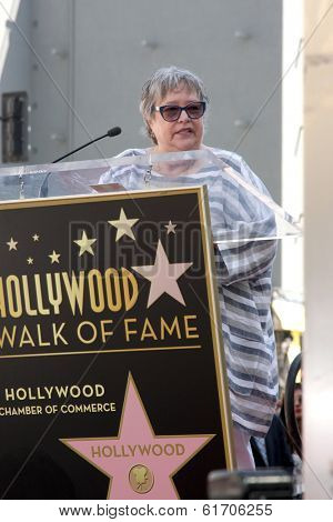 LOS ANGELES - MAR 17:  Kathy Bates at the Kate Winslete Hollywood Walk of Fame Star Ceremony at W Hotel on March 17, 2014 in Los Angeles, CA