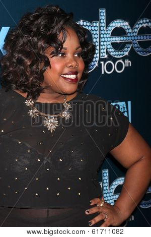 LOS ANGELES - MAR 18:  Amber Riley at the GLEE 100th Episode Party at Chateau Marmont on March 18, 2014 in West Hollywood, CA
