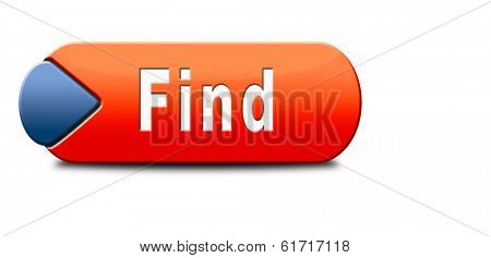 find answers button indicating way to solve problems answer sign answer icon search answer and discover truth