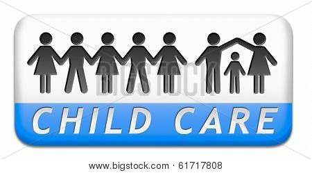 child care in daycare by nanny or au pair parenting or babysitting children protection against abuse