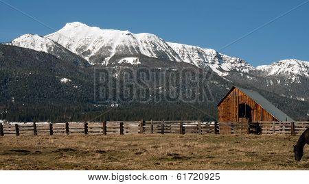 Old Horse Barn Endures Mountain Winter Wallowa Whitman National Forest