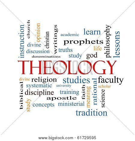 Theology Word Cloud Concept