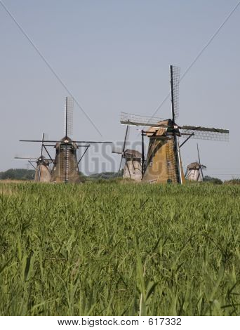 Dutch Windmills In Kinderdijk 9