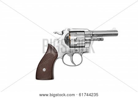 Revolver Isolated On White Background