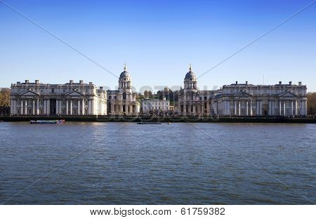 LONDON, UK - MARCH 16, 2014: Greenwich view and river Thames from docklands