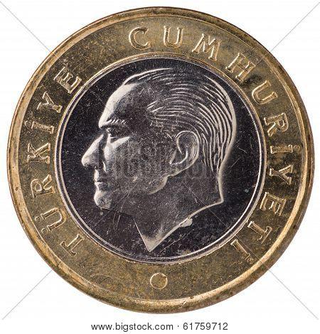 1 Turkish Lira Coin, 2011, Face