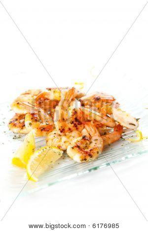 Tasty Grilled Prawn Salad