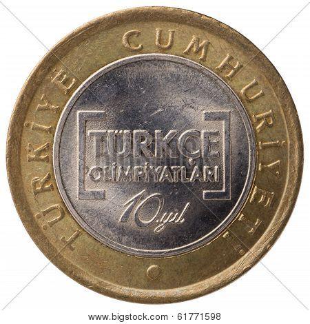 1 Turkish Lira Commemorative Coin, 2012, Face