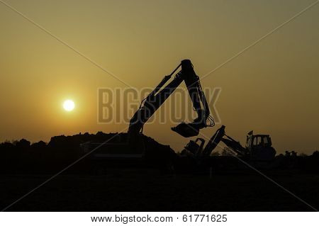 construction in the sunset
