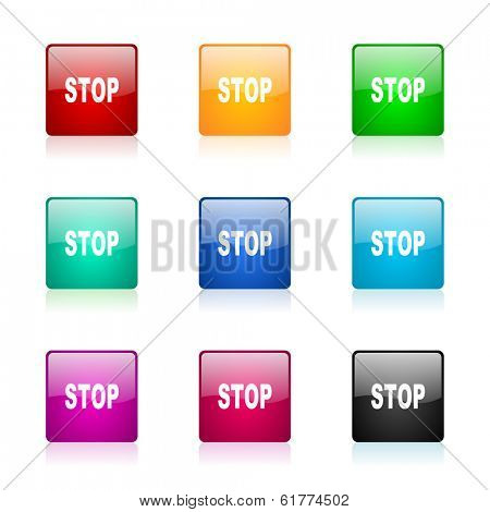 stop web icons set