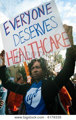 Protesto de cuidados de saúde