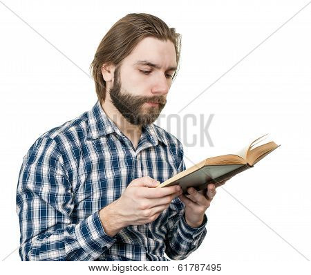 man reading the book