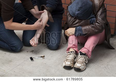 Stoned Drug Addicts